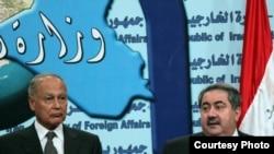 زيباري وابو الغيط خلال مؤتمرهما الصحفي ببغداد