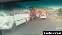 Uzbekistan - Qamchiq pass traffic length till 5 km