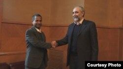 دیدار اردشیر امیرارجمند و احمد شهید در مقر اروپایی سازمان ملل در ژنو، اردیبشت ماه سال ۱۳۹۱
