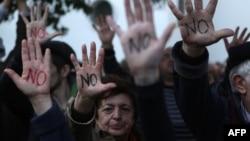 Жителі Кіпру протестують проти оподаткування депозитів, 18 березня 2013 року