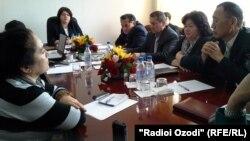 Совещание Комитета по языку и терминологии при правительстве Таджикистана.
