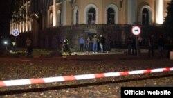 Місце вибуху біля будівлі СБУ в Одесі, 27 вересня 2015 року