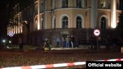 Місце вибуху біля будівлі СБУ, Одеса, 27 вересня 2015 року
