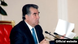 Tajik President Emomali Rahmon talked tough at his annual cabinet meeting on January 17.