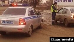 Сотрудник российской полиции.