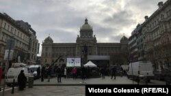 Памятная акция на Вацлавской площади. 16 января 2019 г.