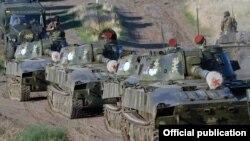 Ermənistan hərbi texnikası Azərbaycanın işğal olunmuş Qarabağ bölgəsində, 24 sentyabr 2019.