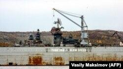 Так выглядел ремонтный док в Росляково в 2009 году.