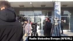 Илустрација - Новинари пред Апелацискиот суд Скопје