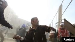 Столкнования оппозиции со сторонниками Мубарака, Каир. 3 февраля