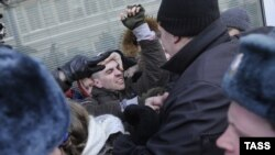 Gay Rights Activists, Protesters Scuffle
