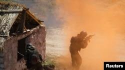 Казахстанские военнослужащие на учениях «Степной орел» в Алматинской области