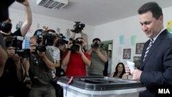 На выбрах голосует премьер-министр Македонии Никола Груевский