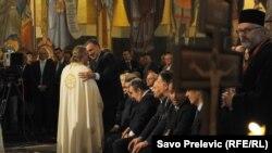 Predsjednik Crne Gore Filip Vujanović na osvještanju Hrama Hristovog spasenja i proslavi Milanskog edikta u Podgorici 7. oktobra