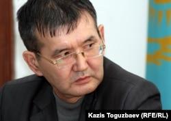 """Ерлан Калиев , активист оппозиционной партии """"Алга"""". Алматы, 29 февраля 2012 года."""
