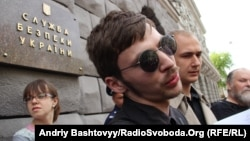 Богдан Тицький під час однієї з акцій