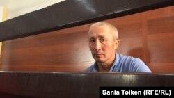 Житель города Актау Абловас Джумаев в суде по его делу. Актау, 31 июля 2018 года.