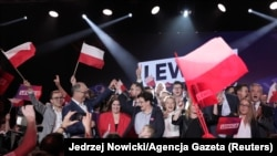 Lideri i poklonici poljske Ljevice