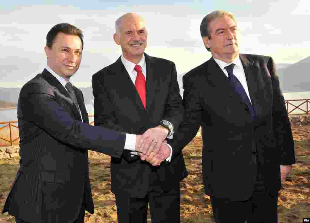 Gruevski, Papandreu i Beriša