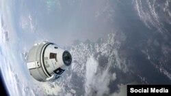 نمایی از استارلاینر، عکس از حساب کاربری ناسا در توئیتر