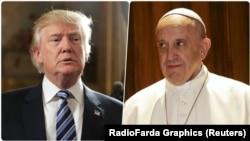 از راست: پاپ فرانسیس و ترامپ