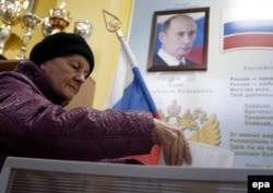 Голосування на одній із виборчих дільниць у Москві. 18 вересня 2016 року