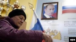 La o secție de votare din Moscova
