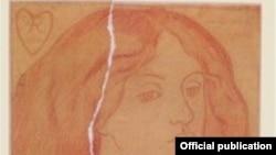 """""""Kırmızı saçlı kadın"""" kitabının üz qabığı"""