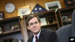 File photo :David Satterfield, in his office at the State Department in Washington, Friday, May 11, 2007. (AP Photo/Lawrence Jackson)