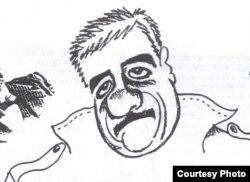 ABŞ - Dovlatovun dostluq şarjı, müəllifi Belomlinski, New-York, 1986