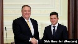 Američki državni sekretar Majk Pompeo i predsednik Ukrajine Volodimir Zelenski