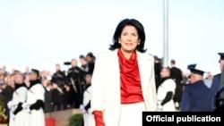 Саломе Зурабишвили на церемонии инаугурации. Телави, 16 декабря 2018 года.