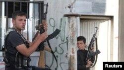 Сирийские повстанцы. Иллюстративное фото.