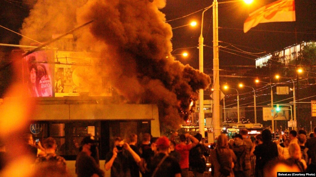 Proteste in Minsk, Prytytski-Platz