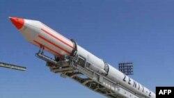 Ракета-носій «Зеніт-2» на космодромі «Байконур» у Казахстані. Фото 2007 року