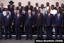 "Владимир Путин с лидерами стран континента на саммите ""Россия-Африка"". Сочи, 24 октября 2019 года"