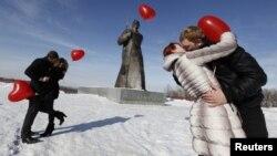 Arxiv foto: Stavropolda «Sevgililər günü» qeyd olunur