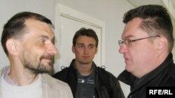 Андрэй Пачобут (зправа) разам з калегам Анджэем Пісальнікам