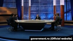 Վարչապետ Դմիտրի Մեդվեդևը հանդիպել է հինգ ռուսական հեռուստաընկերությունների ներկայացուցիչների հետ, 9-ը դեկտեմբերի, 2015թ.