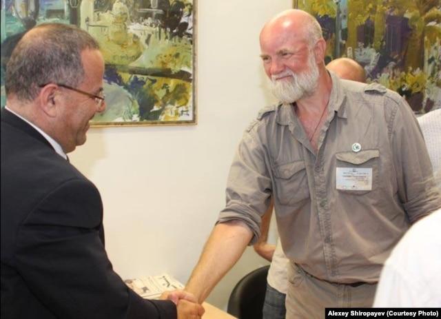 Депутат израильского кнессета Аюб Кара и Алексей Широпаев