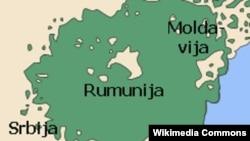 Etnička mapa područja gde žive vlasi u Srbiji i Rumuniji