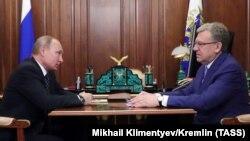 Алексей Кудрин на беседе у Владимира Путина, 4 июня 2018