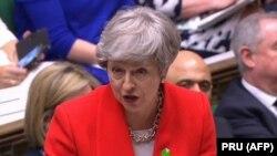 Тереза Мэй на заседании британского парламента.
