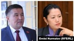 Сагындык Келдибаев и Ыргал Кадыралиева.