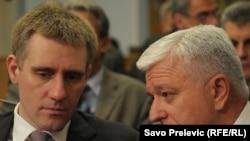 Predsjednik i potpredsjednik crnogorske Vlade Igor Lukšić i Duško Marković