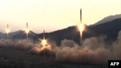 Ракетные испытания в КНДР.