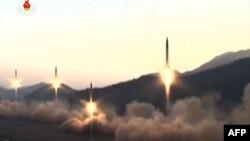 Солтүстік Кореяның зымыран сынағы. (Видеодан алынған скриншот.)