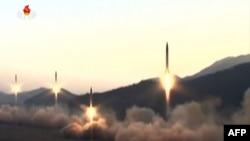 Шимолий Корея синовдан ўтказаётган ракеталар.