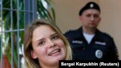 Pussy Riot тобының мүшесі Вероника Никульшина.