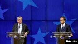 Եվրահանձնաժողովի նախագահ Ժան Կլոդ Յունկեր (ձախից) և Եվրոպական խորհրդի նախագահ Դոնալդ Տուսկ, արխիվ